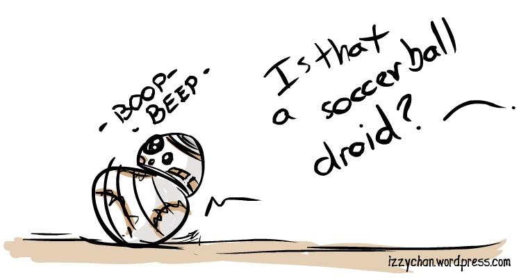 football soccer droid star wars