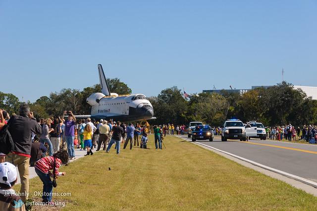 Fri, 11/02/2012 - 11:54 - The Space Shuttle Atlantis finally arrives! - November 02, 2012 11:54:46 AM - , (28.5138,-80.6742)