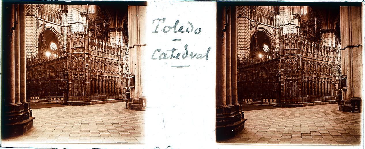 Catedral de Toledo hacia 1910. Fotografía de Arturo Cerdá y Rico © Centro de Estudios Giennenses, Diputación de Jaén