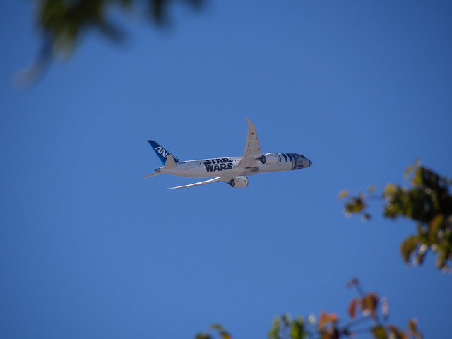 ANA's R2-D2 787-9 (JA873A) taking off at SJC