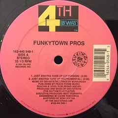 FUNKYTOWN PROS:JUST ANOTHA TOSS UP(LABEL SIDE-A)