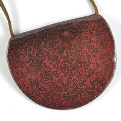 NEW on#etsy ....I almost didn't list this #necklace because i wanted to keep it for myself, it is so unique! It is unique because the red speckled nature of the glaze can only be achieved during specific firing conditions so #happydance  Link to my #etsys