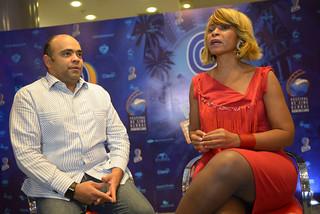 Omar de la Cruz en el Programa A Imagen con Aleja Flores. Blue Mall-1
