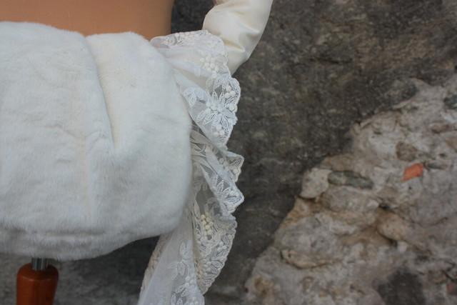 Manchon de mariée, détail