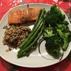 Dinner tonight. #steelhead #broccoli #asparagus #quinoarice