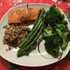 Dinner tonight. #steelhead #broccoli #asparagus #quinoarice