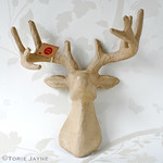 Paper Patch Deer Stag Head
