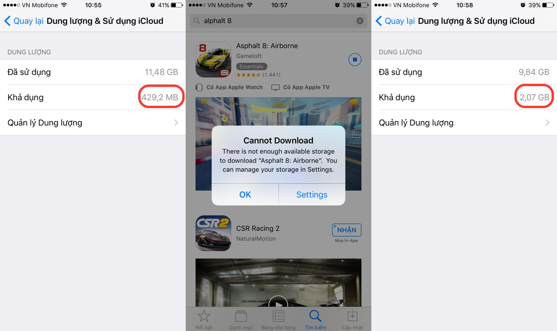 Mở rộng bộ nhớ trên iPhone không cần xoá ứng dụng