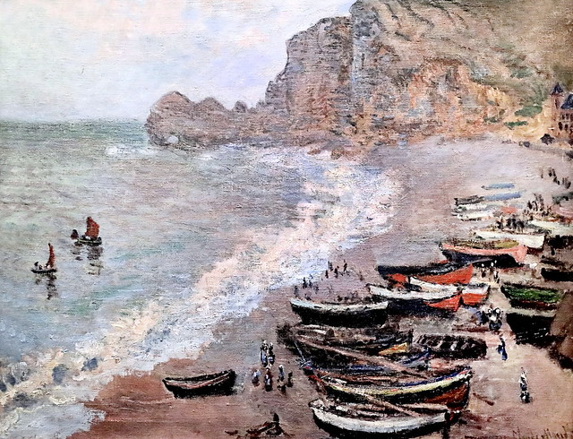 IMG_6247 Claude Monet. 1840-1926. Paris. La plage d'Etretat. The beach of Etretat.  1883.   Paris Orsay.