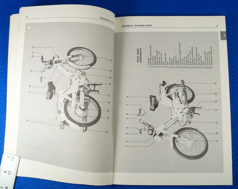 RD15221 Original Vintage Puch Moped Owner Service Repair Manual 1976-1977 DSC08747