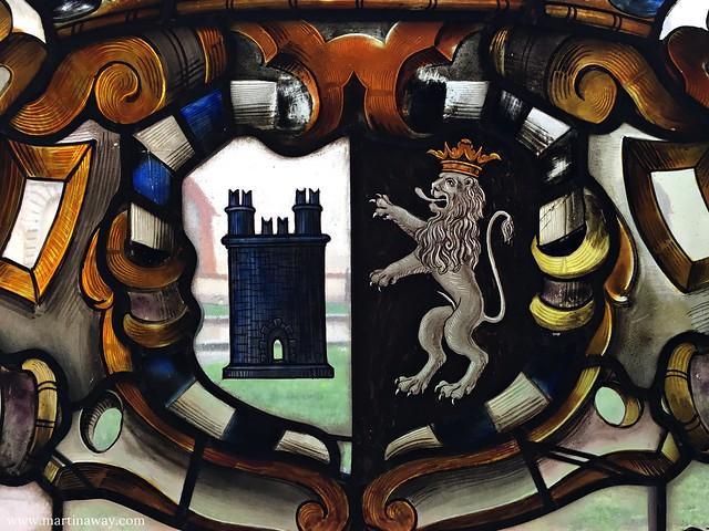 Una vetrata del Castello Sforzesco