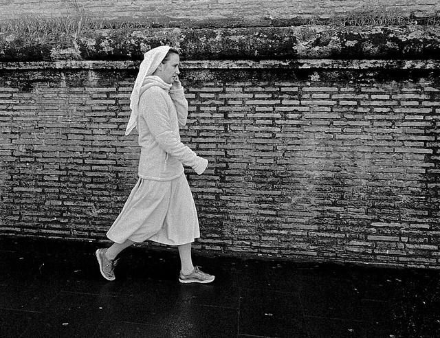 A nun...