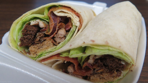 Bacon chicken Caesar wrap