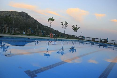 La Cabeza del Oso desde la piscina El Castañar ( El Real de San Vicente , Toledo ).