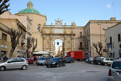 italy church town europe streetscene sicily marsala