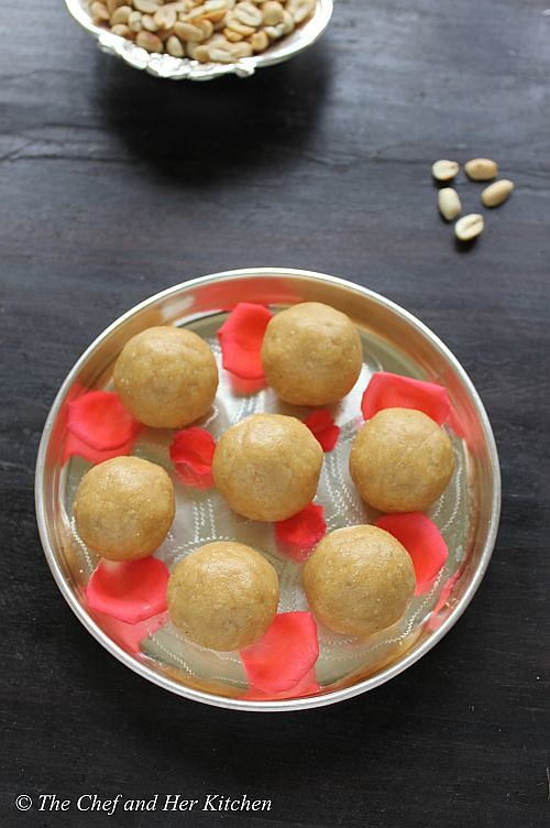 groundnut jaggery laddu