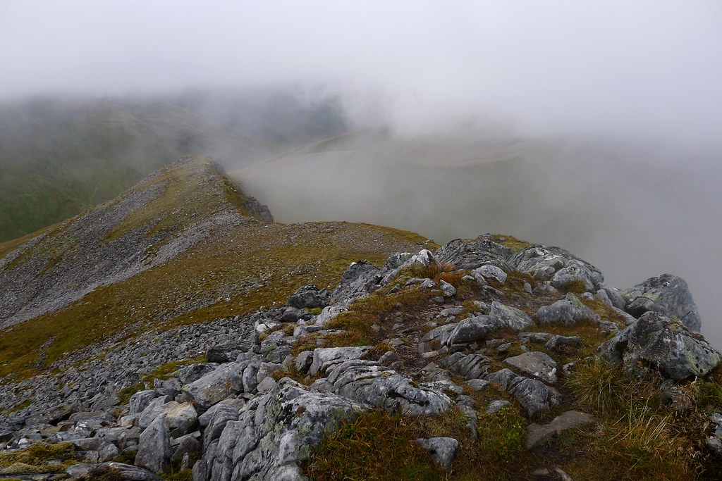 Mist on the north ridge of A' Chraileag