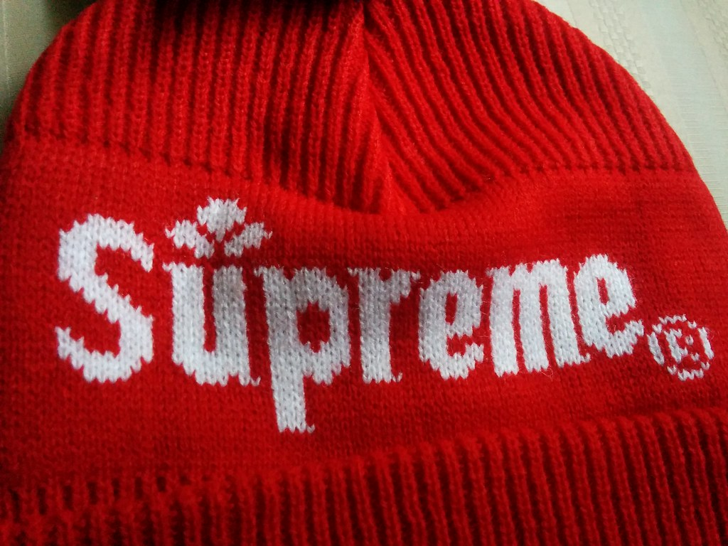 2fcb4c2cda9 Supreme Citrus Beanie (Red) Fall Winter 2015 Box Logo NYC ONE SIZE