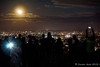 Crowds watching the supermoon Brisbane 2015 by NettyA