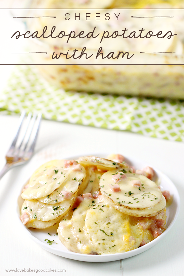 This Cheesy Scalloped Potatoes with Ham recipe is just like grandma used to make! Simple and delicious comfort food! #TakeBackTheTable #ad
