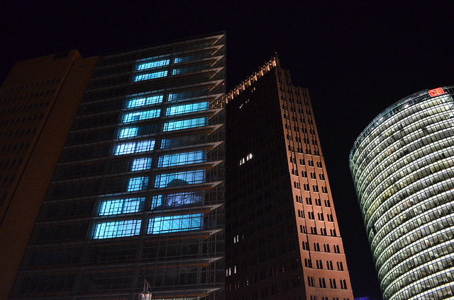 Berlin Festival of Lights 2015 Potsdamer Platz lights inside building