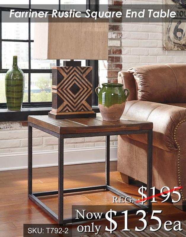 Farriner Rustic End Table