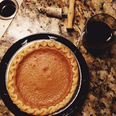 meal(0.0), produce(0.0), pie(1.0), breakfast(1.0), sweet potato pie(1.0), baking(1.0), baked goods(1.0), food(1.0), dish(1.0), pumpkin pie(1.0),