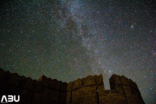 Milky Way galaxy and the Andromeda galaxy at Ranikot Fort