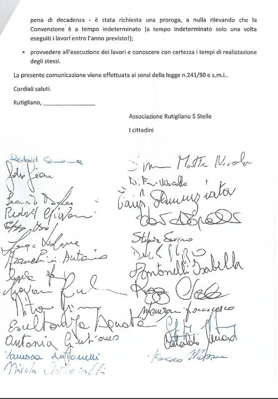 Rutigliano- Il Movimento 5 Stelle presenta una istanza per via Adriatico 3