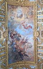 """Fall of rebellious angels"" - fresco by Giacinto Brandi (Gaeta 1621-Rome 1691) - Sant'Ambrogio e San Carlo al Corso Church in Rome"