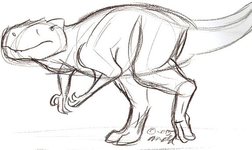 Draw Dinovember 11.3.15 - Afrovenator