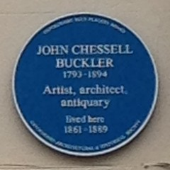 Photo of John Chessell Buckler blue plaque