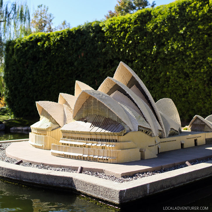 Lego Sydney Opera House - Around the World Tour at Legoland California Resort.