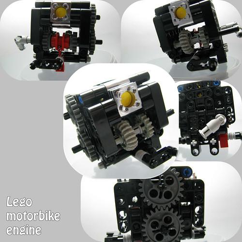 Lego motorbike engine