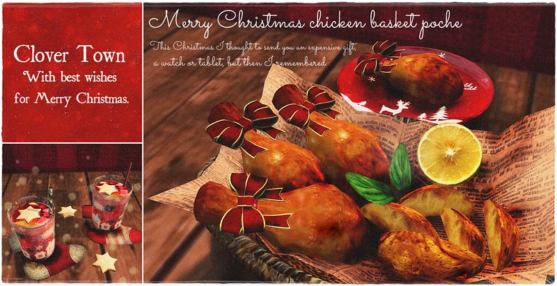 Christmas chicken basket poche