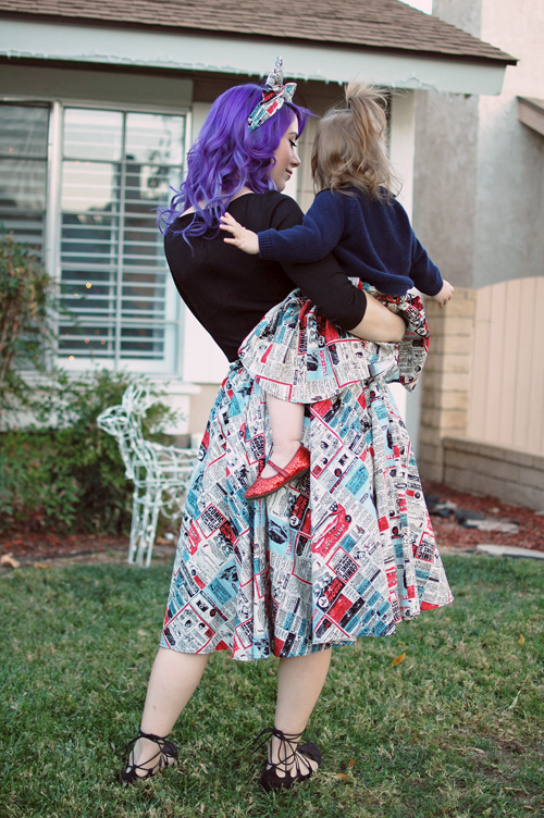 Lil' Lou Lou Rocket Ads Skirt Mommy and Me