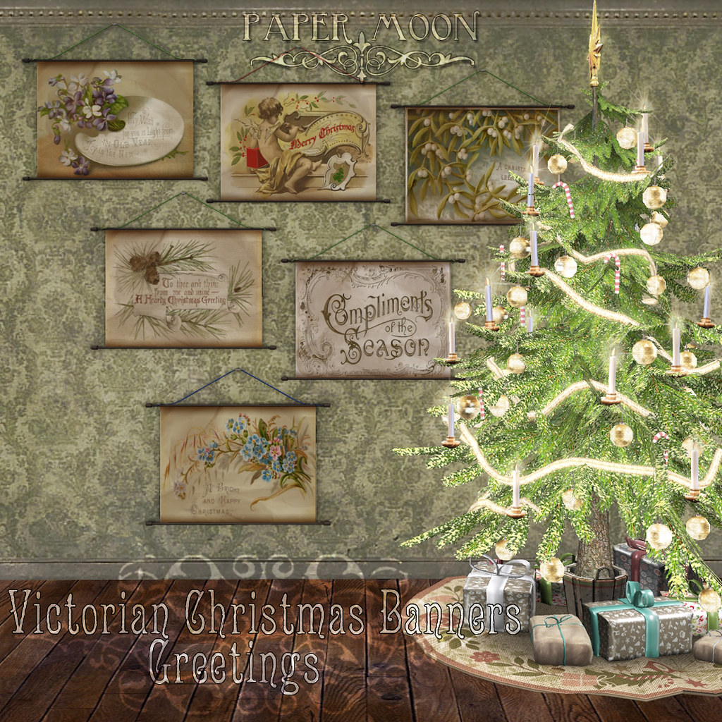 *pm* Victorian Christmas Banners - Greetings - SecondLifeHub.com
