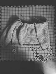 Knitting a bulky sweater
