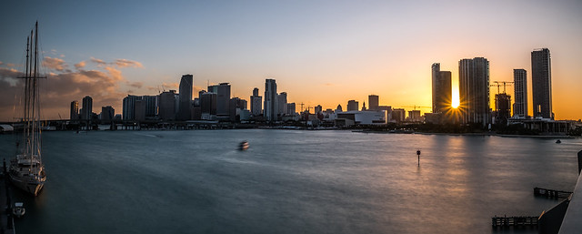Downtown Miami at sunset - Florida, United States - Cityscape photography