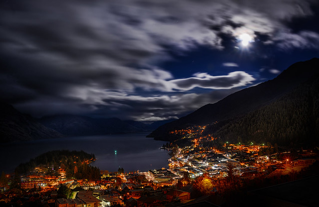 Moonlight Clouds – Queenstown At 7:30 AM