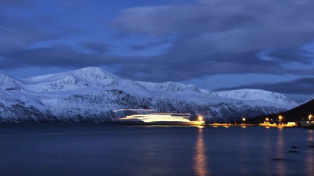 First ferry over the fjord