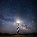 Who needs sleep - Cape Hatteras Lighthouse and Milky Way, North Carolina Outer Banks [Explored] by jason_frye