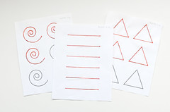 Mynt3d sheets of 3d shape tracing on white