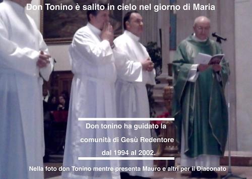 Don Tonino sale in cielo alle 2.45 del 15 Agosto 2015