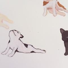 Painting progress.