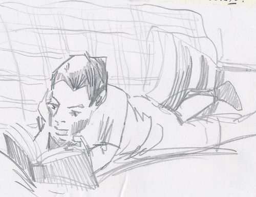 Sketchbook #91: Reading