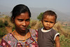 Mother and child in the tribal village of Gadiseskal - Odisha