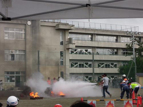 20150823_蕨市総合防災演習_消火器による消火訓練
