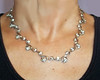 Vintage Sterling Silver and Rhinestone 1940s Necklace
