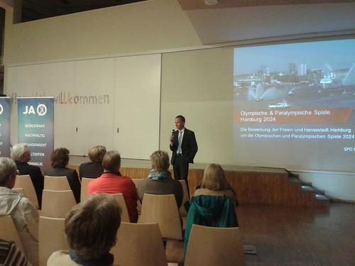 Informationen zu Olympia mit Sportstaatsrat Christoph Holstein